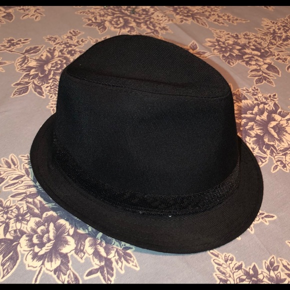 Accessories - Black Fedora with Small Sequin Ribbon